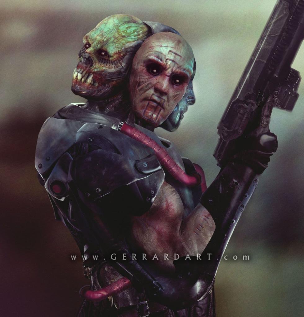 Concept art Man E-Faces