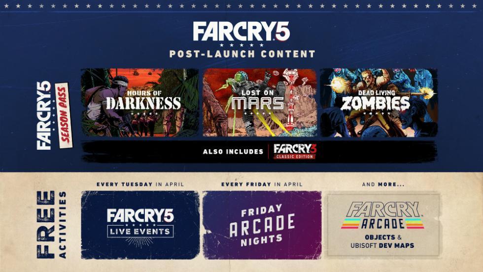 Far Cry 5 - Contenido postlanzamiento