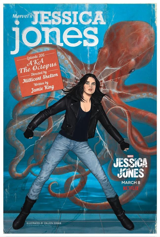 Jessica Jones - 13 portadas exclusivas de arte estilo cómic inspiradas en el espíritu y la esencia de cada episodio de esta nueva entrega