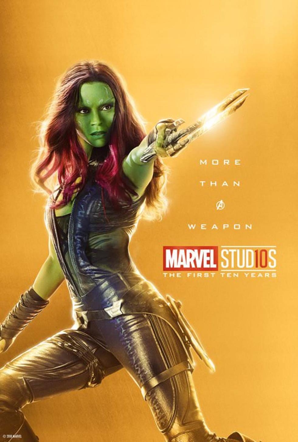 Pósters individuales de los Vengadores 10º Aniversario Marvel