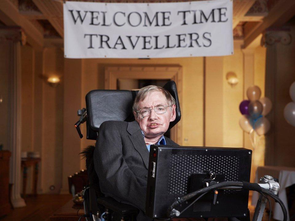 Foto retrato de Stephen Hawking.