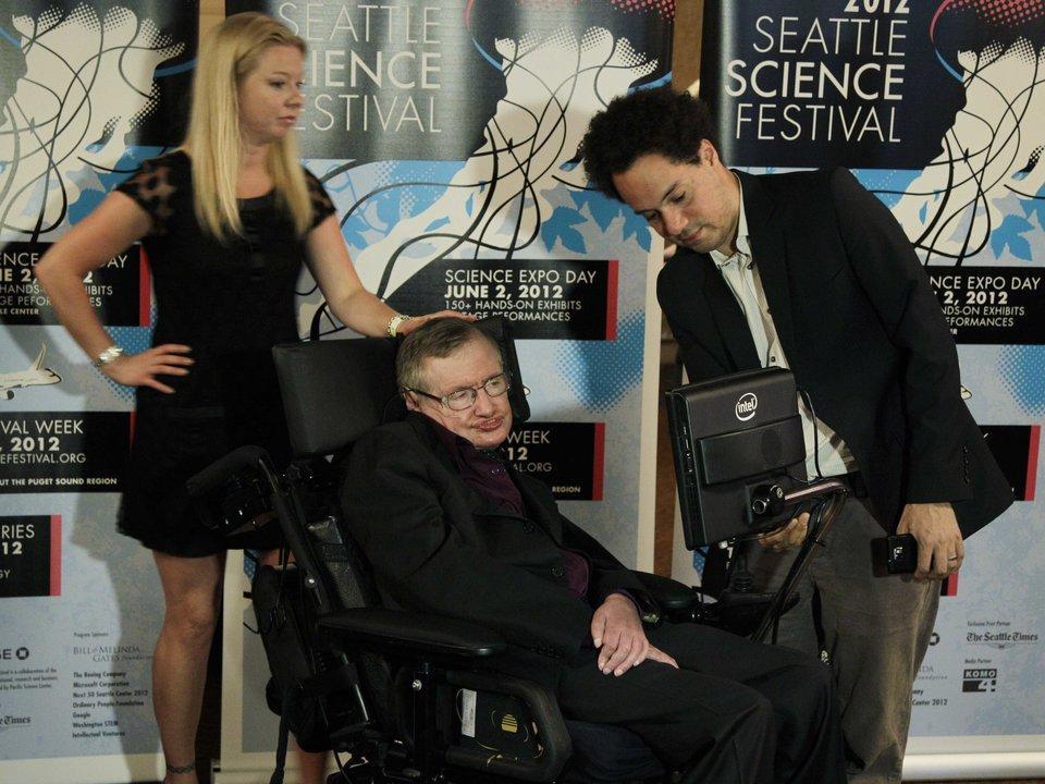 Stephen Haking en un festival de la ciencia.