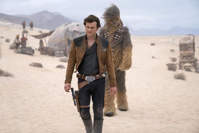 Han Solo y Chewbacca en Han Solo: Una historia de Star Wars