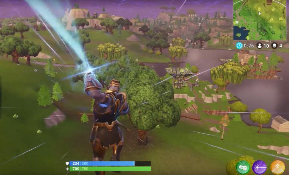Thanos en Fortnite Battle Royale