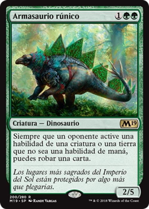 Análisis de Armasaurio Rúnico (M19) - Magic: The Gathering