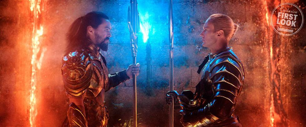 Aquaman (Jason Momoa) y Amo del Océano (Patrick Wilson) en Aquaman