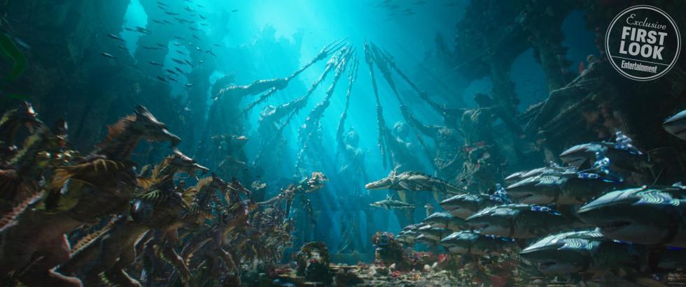 Los guerreros de Xebel se enfrentan a los atlantes en Aquaman
