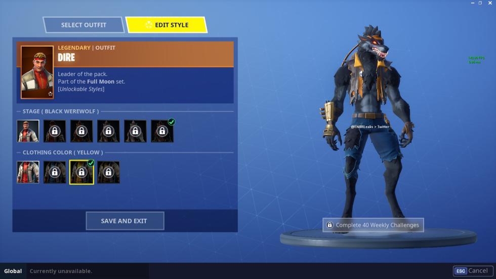 Skins de hombre lobo Fortnite - esports