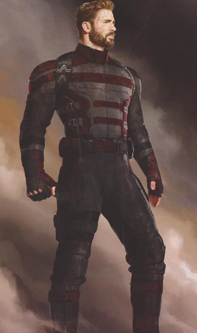 Conceptos de Capitán América para Vengadores: Infinity War
