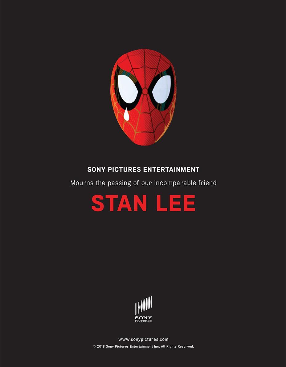 Despedida Stan Lee - Sony