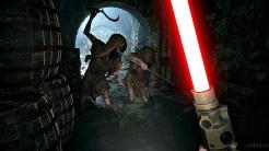 Resident Evil Village sable láser