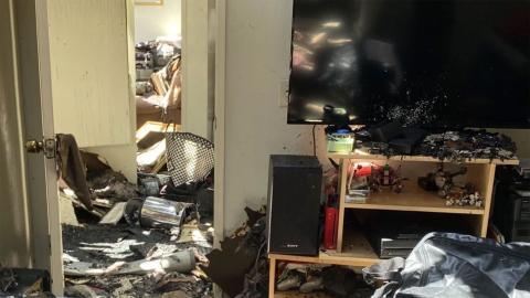 Incendio casa jugador de videojuegos