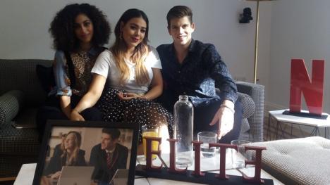Entrevista Élite - Mina El Hammani, Danna Paola y Miguel Bernardeau
