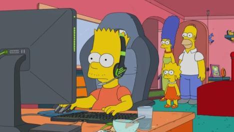 Los Simpsons - Bart enganchado a un videojuego