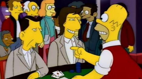Los Simpson parodiando Rain Man