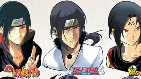 Así sería Itachi de Naruto con el look de Dragon Ball y otros animes