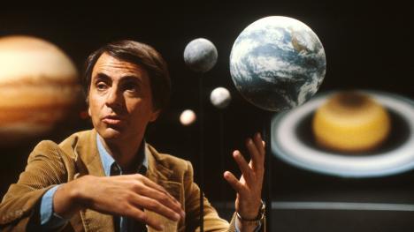 Carl Sagan en la serie Cosmos