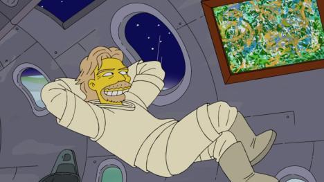 Los Simpson - Richard Branson en el espacio