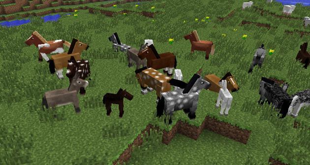 Minecraft se llena de caballos y burros  HobbyConsolas Juegos