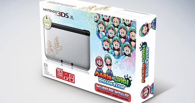 Nueva 3ds Xl Plateada Protagonizada Por Mario Y Luigi