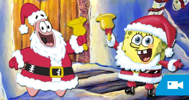 Bob Esponja nos felicita la Navidad y presenta los primeros