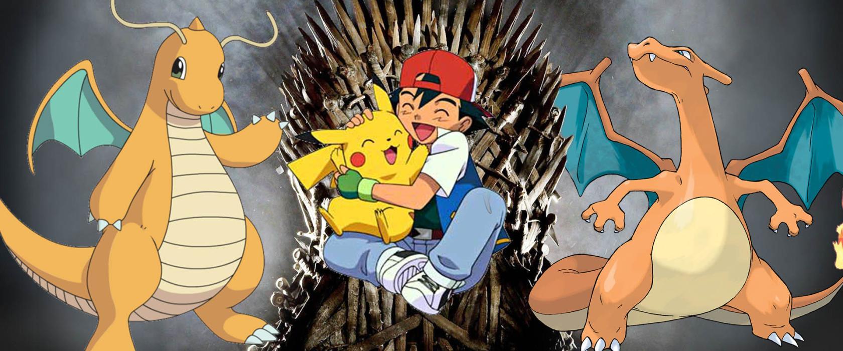 Ash Pikachu en el Trono de Hierro