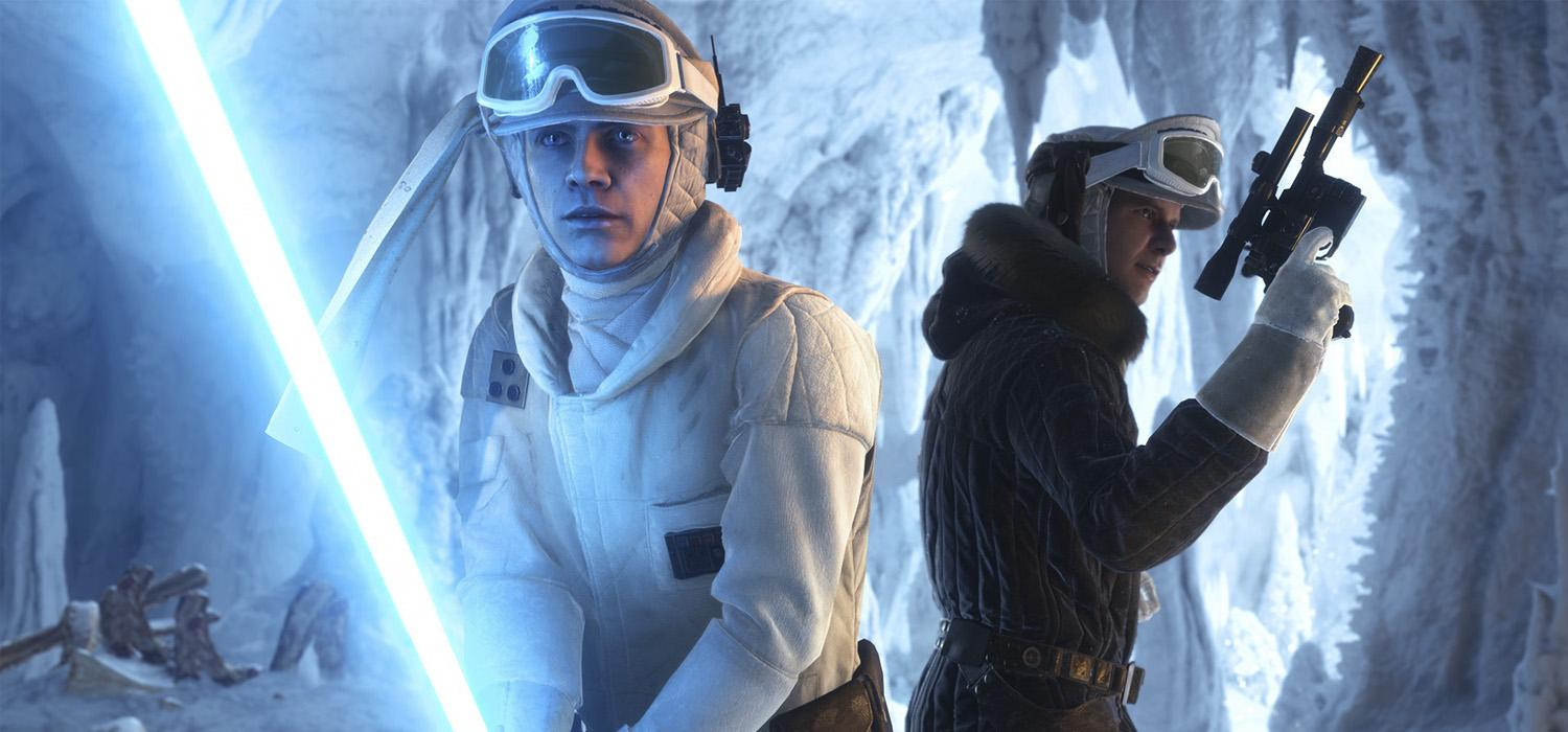 Star Wars Battlefront Han Solo y Luke Skywalker