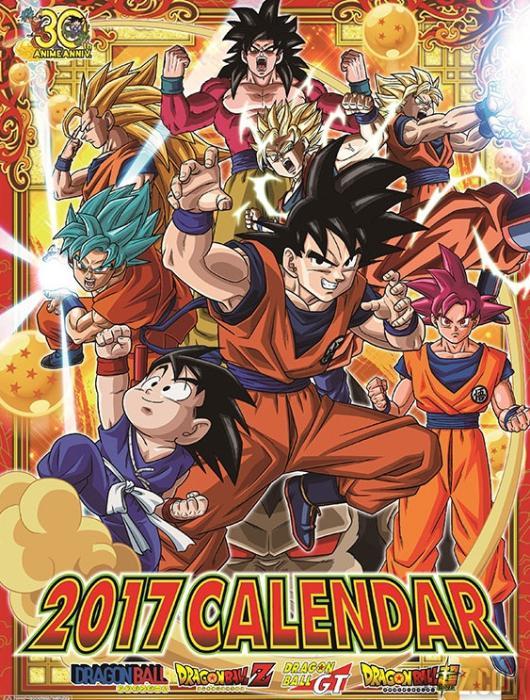 Calendario Dragon Ball 2017