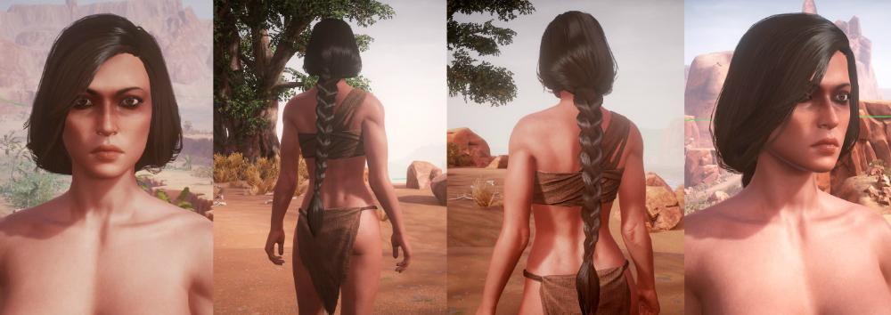 Diseño del cabello femenino en Conan Exiles