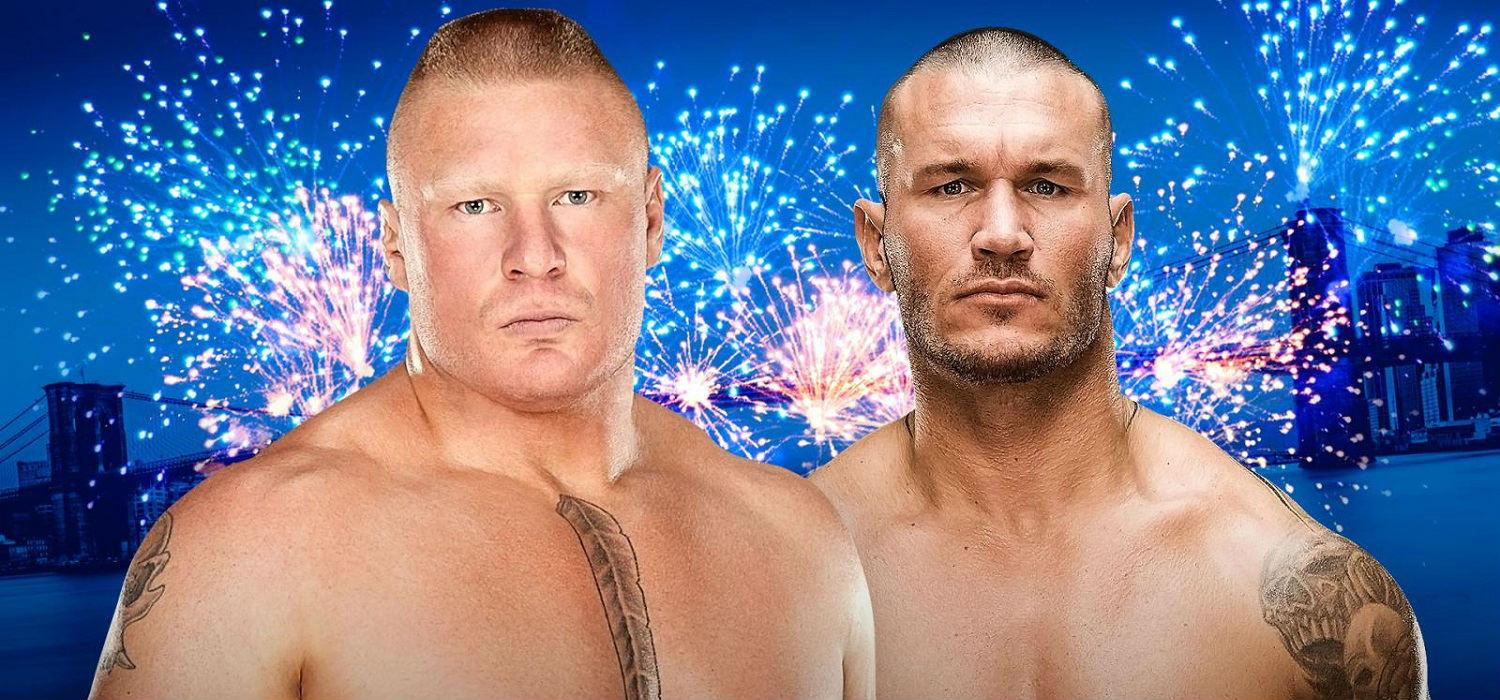 Lesnar vs Orton Summer Slam