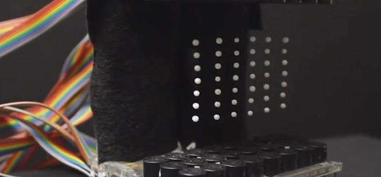 Tinta electrónica, voxels