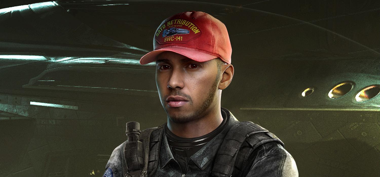 Lewis Hamilton en Call of Duty Infinite Warfare