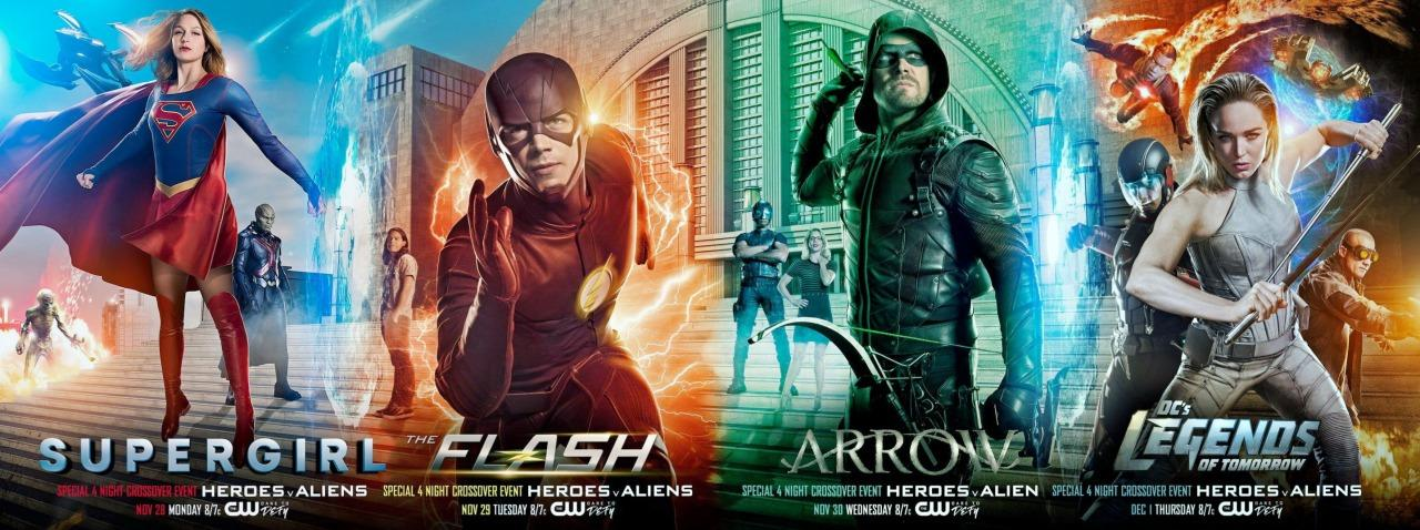 mega-crossover DC: Supergirl, The Flash, Arrow y Legends of Tomorrow