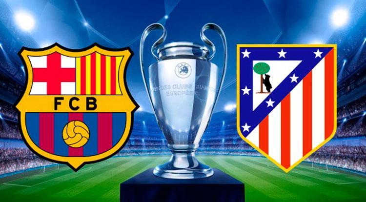 Partido Champions League Barcelona y Atlético de Madrid