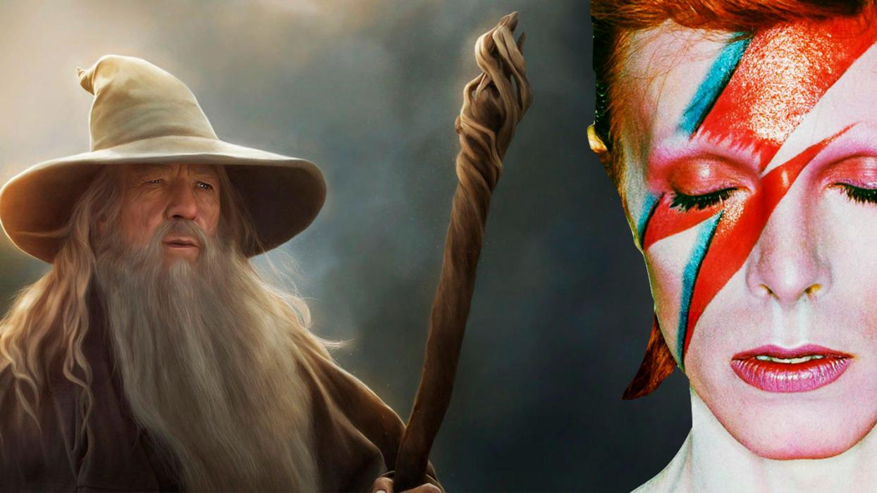 David Bowie cómo Gandalf