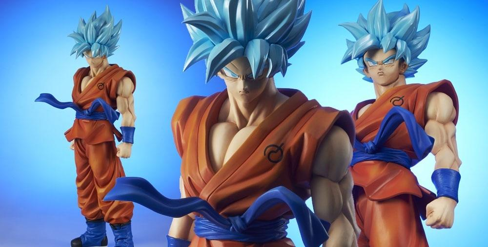 Dragon Ball Super - La figura gigante de Goku Super Saiyan Blue ...