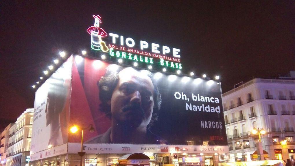 Narcos, cartel navideño Madrid