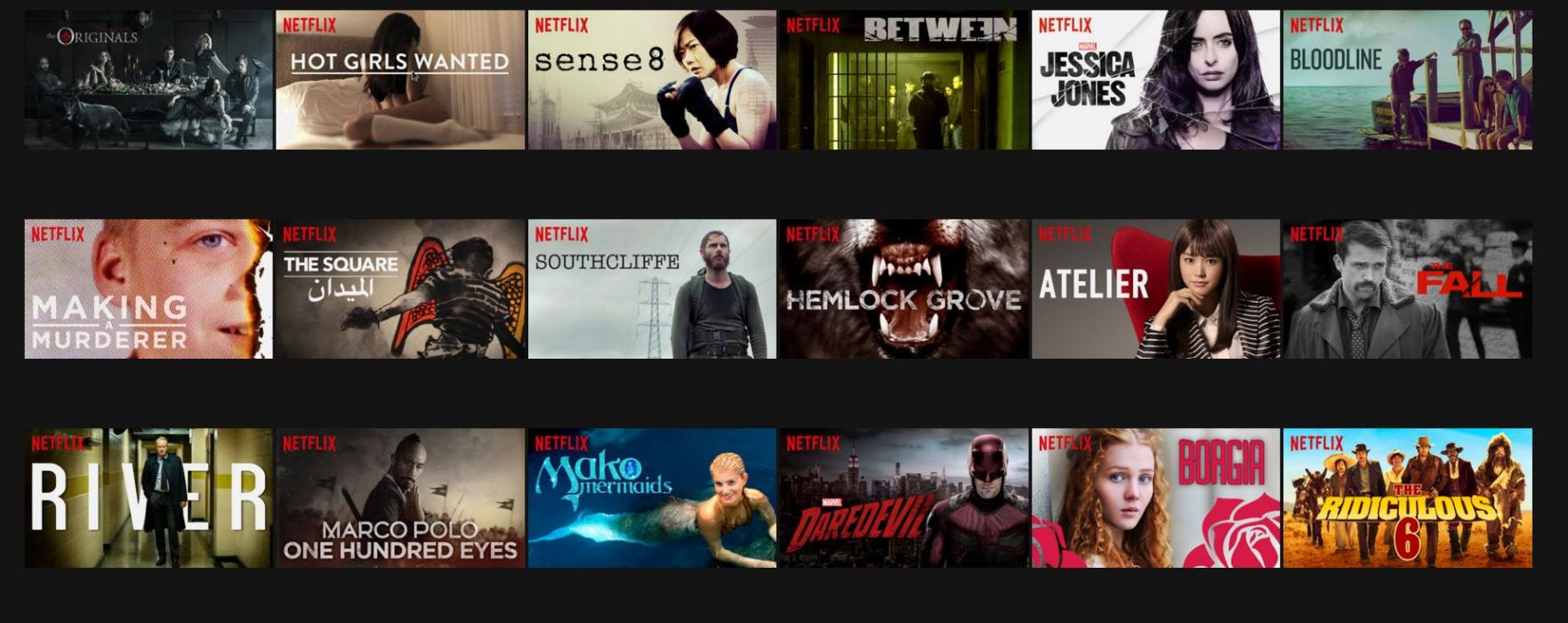 Netflix, series originales