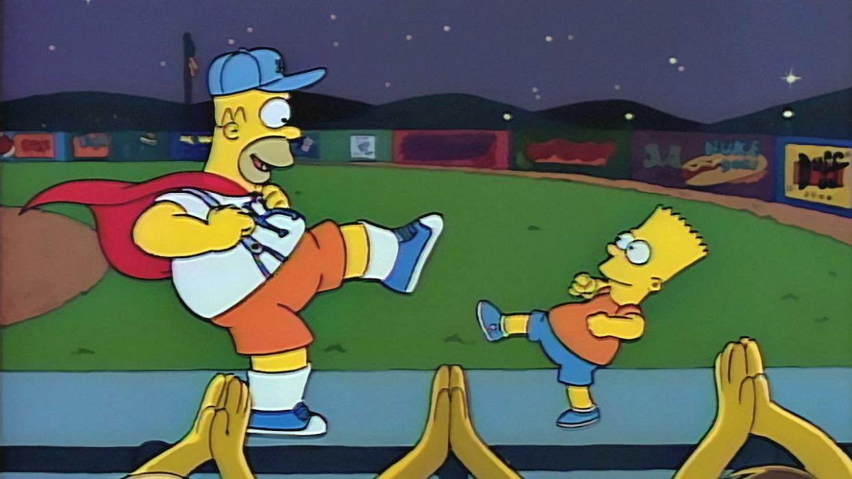 Los Simpson 2x05 Homer bailón