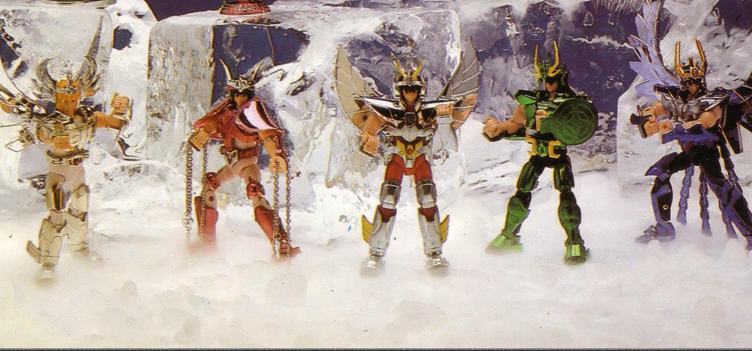 Vintage figures of the knights of the zodiac