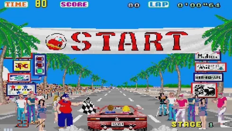 Out Run (1986, Sega).