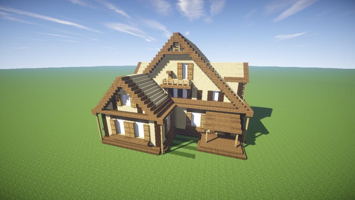 Beautiful Casa De Madera En Minecraft