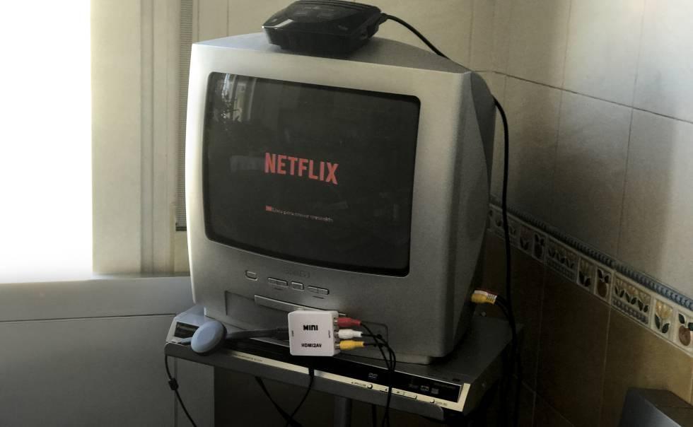 Netflix en una tele de tubo
