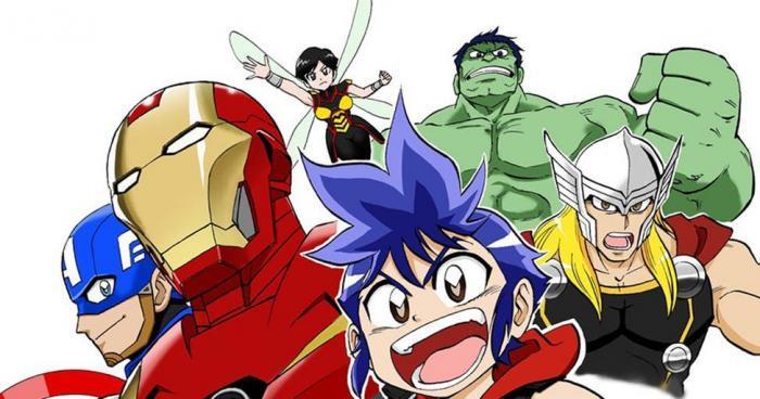 Los Vengadores - serie de anime de Marvel