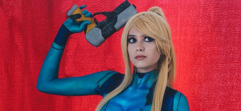 Cosplay body paint de Samus Aran, protagonista de Metroid
