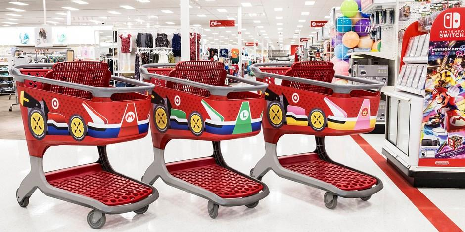 Mario Kart 8 Deluxe - Target se viste para el estreno del juego de Nintendo