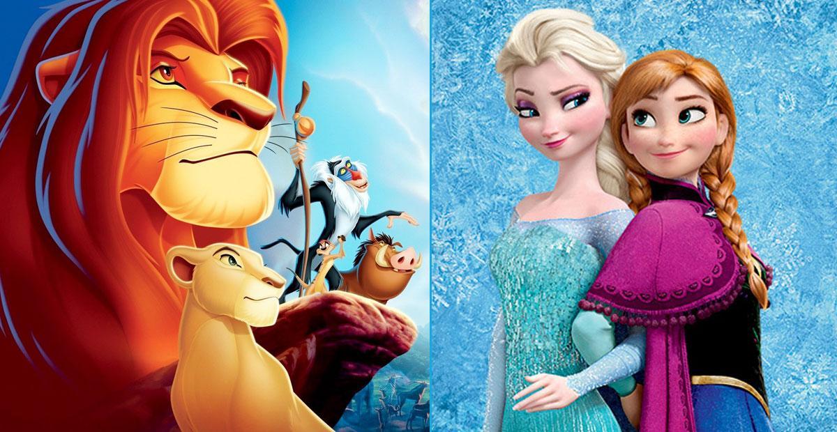 El rey león y Frozen 2