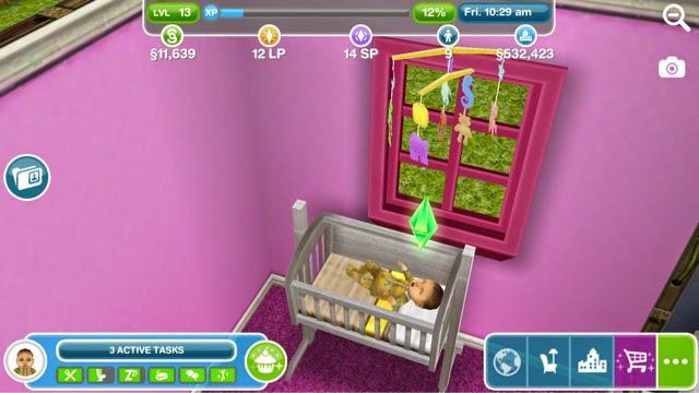 Guia y trucos de los sims freeplay como tener un bebe for Baby bathroom needs sims freeplay