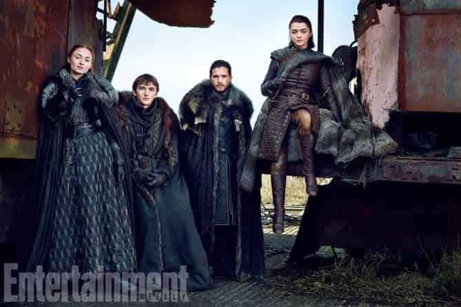 Juego de Tronos - Reportaje con los Stark que sobreviven