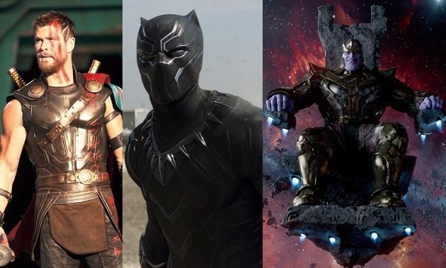 Thor: Ragnarok, Vengadores: Infinity War, Black Panther